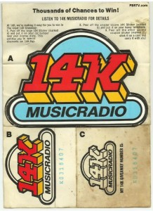 14K (KQV) Sticker Set. (1974)