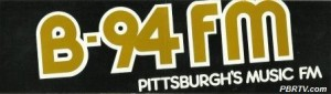 An early B-94 (WBZZ) bumper sticker. (Click to enlarge photo.)
