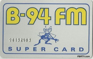 "The B-94 ""Super Card"" which replaced the WJOI Gold Card. (Click for larger photo.)"