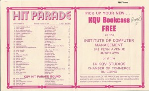 KQV Hit Parade with Bookcover offer