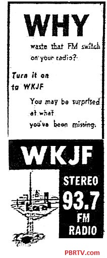 From a newspaper or local magazine. When you are the first FM station in town you have to remind folks to try out their FM dial.