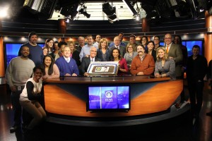 The Celebration in the WPXI studios. (From the WPXI Peggy Finnegan Facebook page)