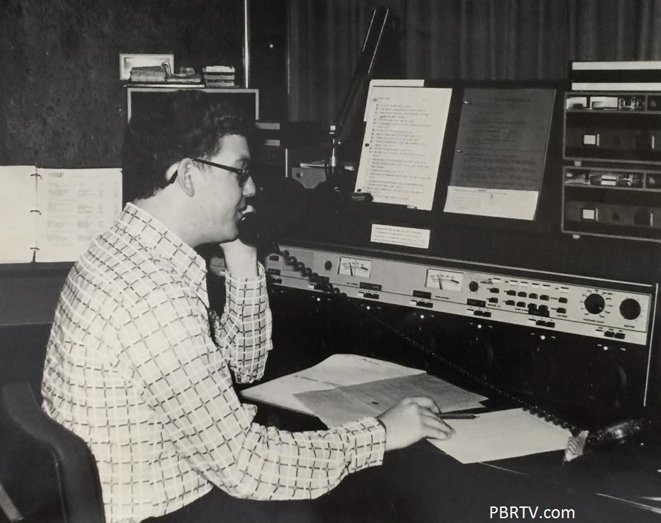 WSHH-FM {Kossman Building} studio. Notice the VU's are clearly marked at 40 so as not to run commercials above that level. The two reel-to-reels were on mobile racks behind me.